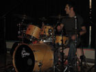 ashley powell playing the drums