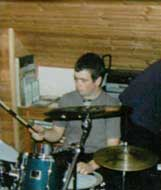 Dean Fradley Playing Drums